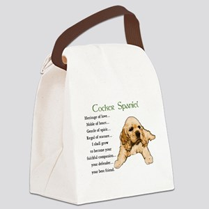 Cocker Spaniel Canvas Lunch Bag