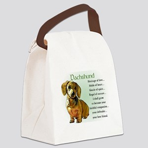 Dachshund Puppy Canvas Lunch Bag