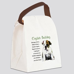 English Bulldog Canvas Lunch Bag