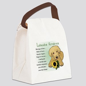 yellow lab pup heritage redo 3 Canvas Lunch Ba