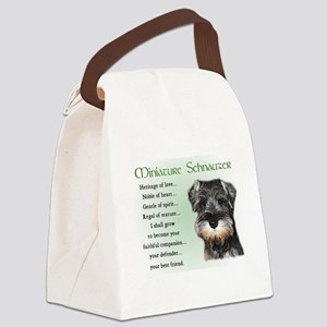 Miniature Schnauzer Canvas Lunch Bag