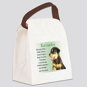 heritage of love rottweiler pup Canvas Lunch B