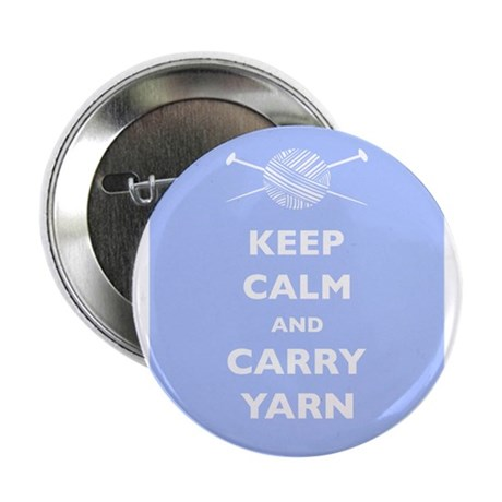 "Keep Calm Carry Yarn 2.25"" Button (10 pack)"