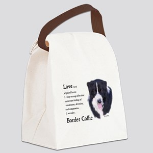 Border Collie Love Is Canvas Lunch Bag