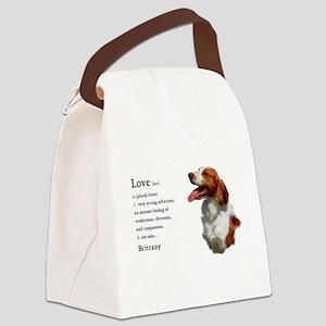 American Brittany Spaniel Canvas Lunch Bag