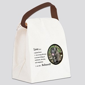 Bullmastiff Love Is Canvas Lunch Bag