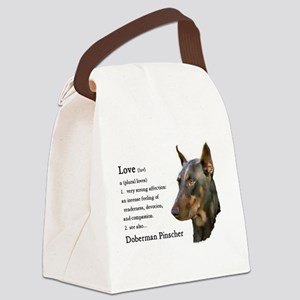 Doberman Pinscher Gifts Canvas Lunch Bag