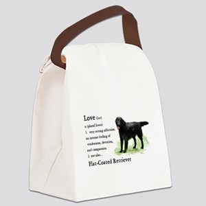 Flat-Coated Retriever Canvas Lunch Bag