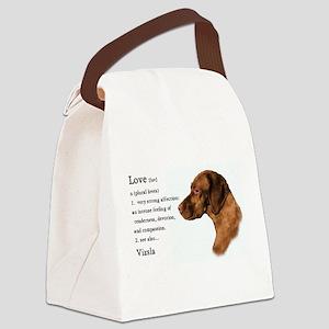 Vizsla Love Is Canvas Lunch Bag