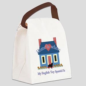 English Toy Spaniel Canvas Lunch Bag