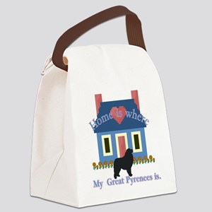 Home Is Great Pyrenees Canvas Lunch Bag