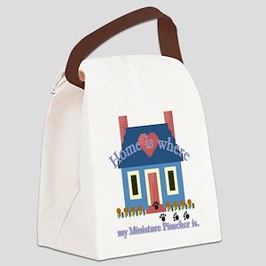 Miniature Pinscher home is Canvas Lunch Bag