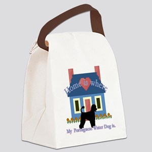Portuguese Water Dog Canvas Lunch Bag
