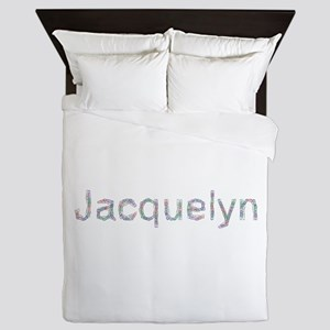 Jacquelyn Paper Clips Queen Duvet