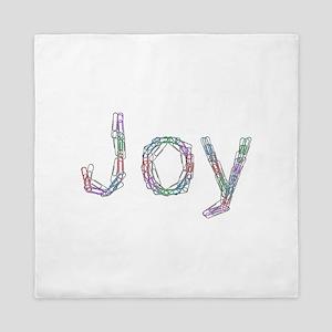 Joy Paper Clips Queen Duvet