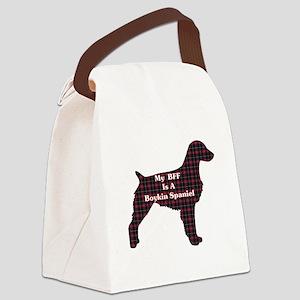 BFF Boykin Spaniel Canvas Lunch Bag