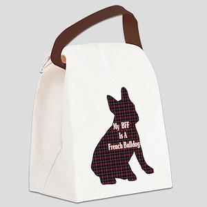 BFF French Bulldog Canvas Lunch Bag