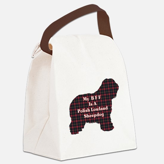 Polish Lowland Sheepdog BFF Canvas Lunch Bag
