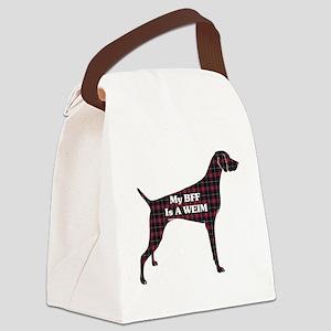 BFF Weimaraner Canvas Lunch Bag