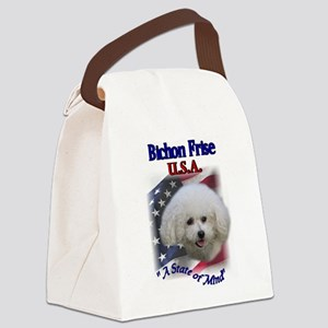 bichon usa Canvas Lunch Bag