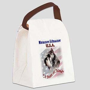miniature schnauzer usa 2 Canvas Lunch Bag