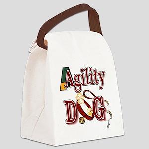 agility dog tee Canvas Lunch Bag