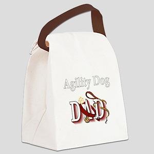 Agility Dog Dad Canvas Lunch Bag