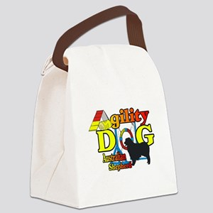 Australian Shepherd Agility Canvas Lunch Bag