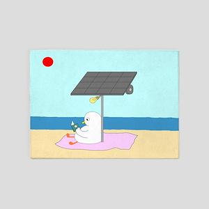 Solar Lamp 5'x7'Area Rug