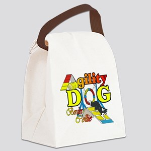 Border Collie Agility Canvas Lunch Bag