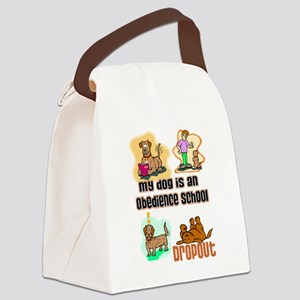 Dog Humor Canvas Lunch Bag