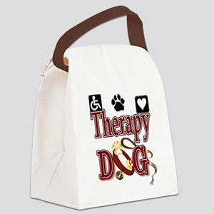 therapy dog tee Canvas Lunch Bag