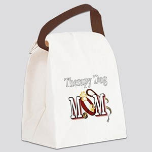 Therapy Dog Mom Canvas Lunch Bag