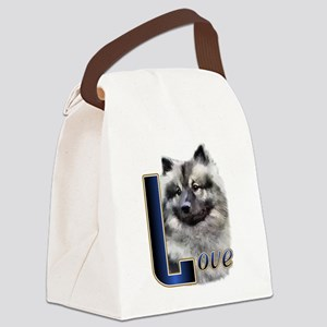 Keeshond Love Canvas Lunch Bag