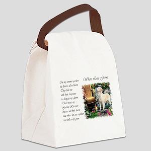 summer garden golden for poem Canvas Lunch Bag