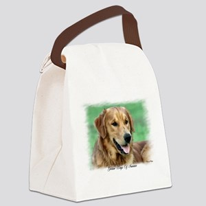 sam watercolor square Canvas Lunch Bag