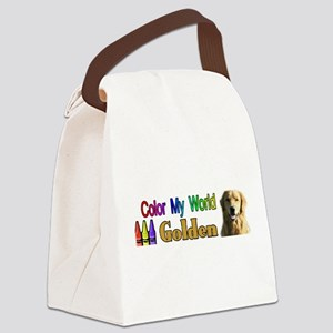Color My World Golden Canvas Lunch Bag
