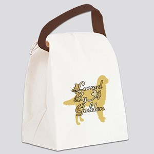 Loved By A Golden Canvas Lunch Bag