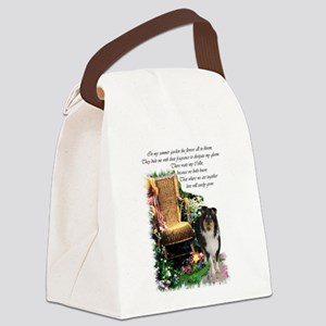 tri collie garden9 Canvas Lunch Bag