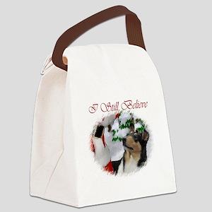 smoothcolliepostcard Canvas Lunch Bag