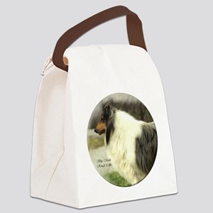 collie chance card border Canvas Lunch Bag