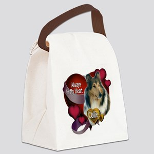 Collie_Always In My Heart Canvas Lunch Bag