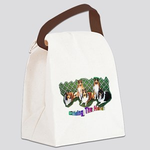 Collie_Drivin The Herd Canvas Lunch Bag