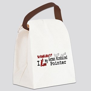 NB_German Wirehaired Pointer Canvas Lunch Bag
