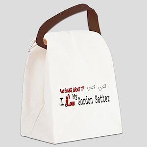 NB_Gordon Setter Canvas Lunch Bag