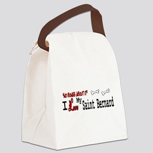 Saint Bernard Gifts Canvas Lunch Bag