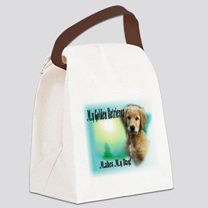 Golden Retriever-Makes my day Canvas Lunch Bag