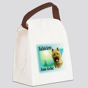 My Cairn Terrier Makes My Day Canvas Lunch Bag