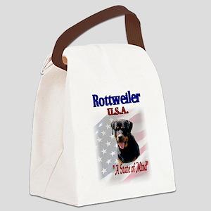 Rottweiler USA Canvas Lunch Bag