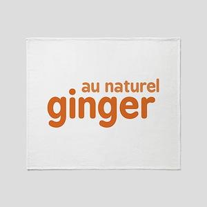 Ginger Au Naturel Throw Blanket